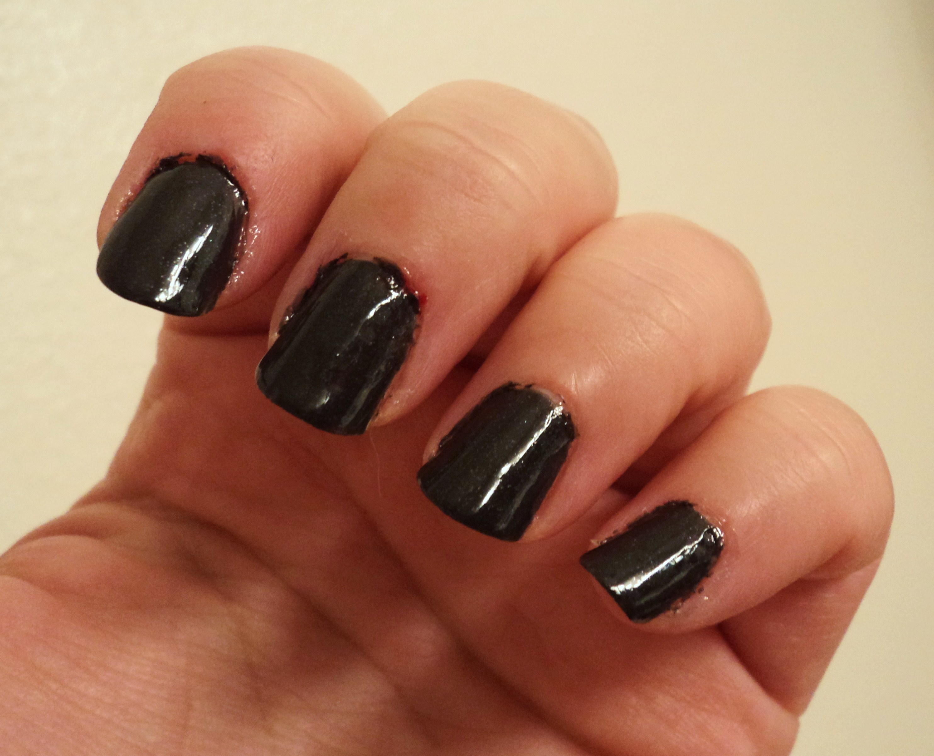 Black Nail Polish Essie it Over Black Nail Polish