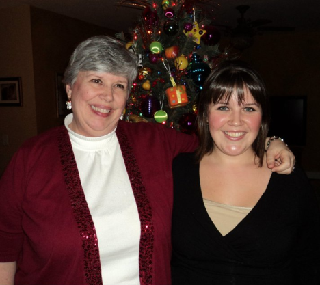 One of my favorite photos of me and my mom.  Taken Christmas Eve 2010.